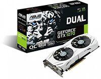 Asus Geforce 8gb Dual-fan Oc Edition 4k/vr Ready Dual Hdmi Dp 1.4 Gaming Card