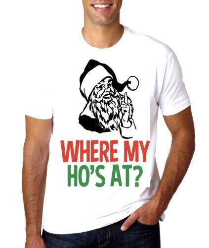 Noël noverty Santa où est mon hos à T-Shirt