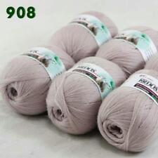 Sale New 6 Skeinsx50g Soft Acrylic Wool Cashmere Hand Knit Shawl Crochet Yarn 17