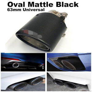 Real-Carbon-Fiber-Auto-SUV-Exhaust-Pipe-Muffler-End-Tips-For-Car-63mm-89mm-Matte