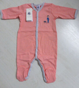 Strampler//Overall//Schlafanzug rosa//weiß oder rosa//pink  von Petit Bateau NEU!