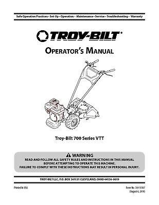 1981 Troy Bilt Pony Tiller Owners Maintenance Instruction Operators Manual 70