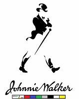 Johnnie Walker Scotch Whisky Decal Sticker Black Blue Label