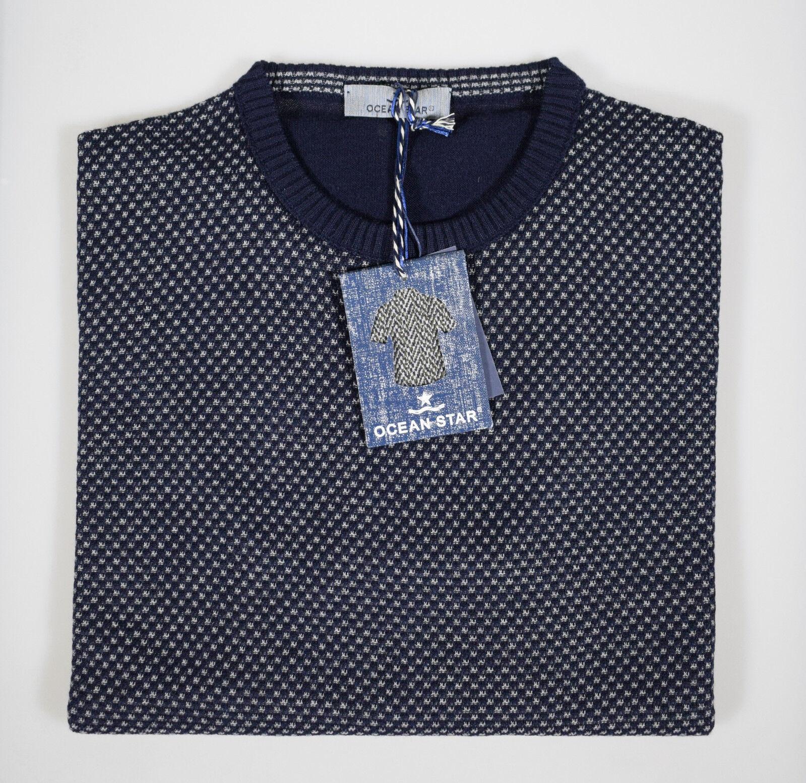 Maglione Ocean Star Giro Collo misto lana pettinata micro fantasia in 2 colori