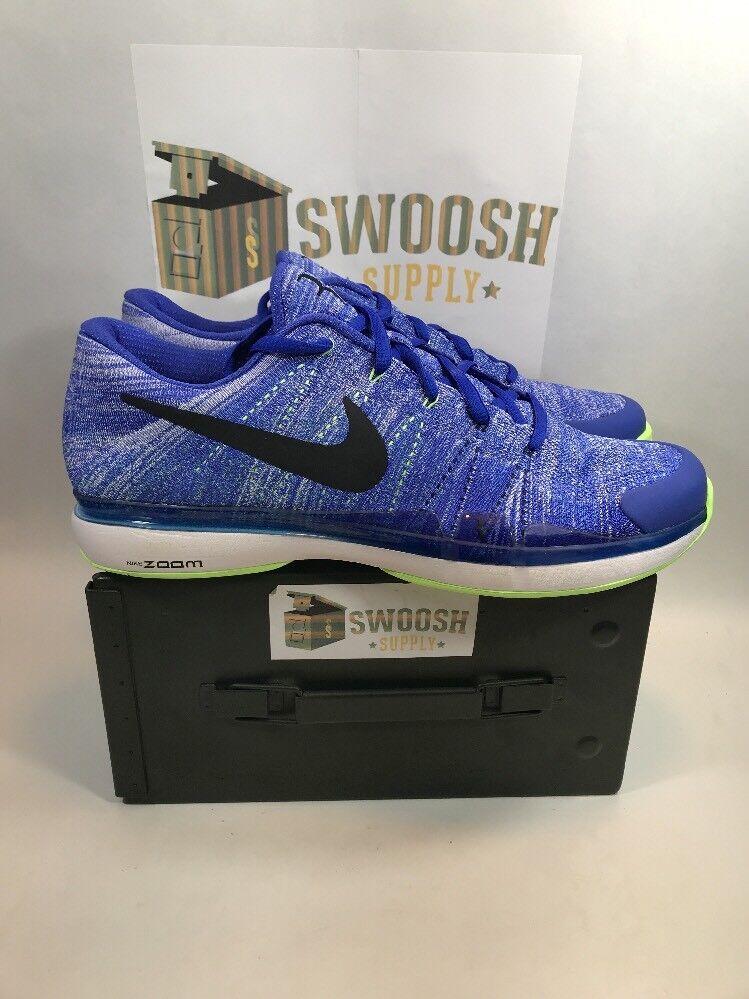 NEW Nike Zoom Vapor Flyknit ROGER FEDERER PARAMOUNT BLUE BLACK 916834-403 sz 11