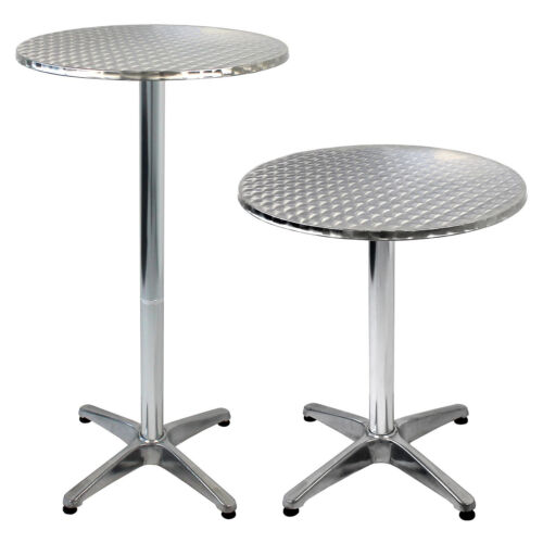 Aluminium Tisch Bistrotisch Stehtisch Beistelltisch Ø60cm H70//110cm Gartentisch