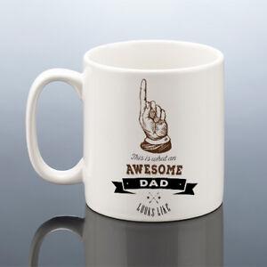 AWESOME DAD MUG Birthday Gift Best Dad Cup
