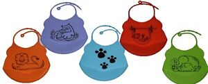 Silicone-Baby-Bibs-Crumb-Catcher-Wipeable-Waterproof-Pocket-Feeding-Bibs-Toddler