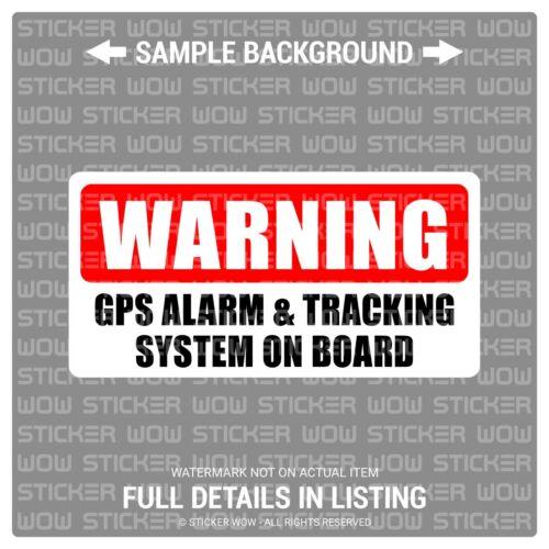 4x2 Warning GPS ALARM /& TRACKING x2 Decal Sticker Vinyl Security Window
