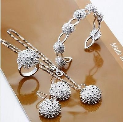 WHOLESALE 925SILVER JEWELRY NECKLACE PENDANT EARRING RING BRACELET BANGLE SETS