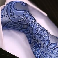 BINDER de LUXE KRAWATTE Schlips corbata cravatte Dassen Krawatten 260 blau