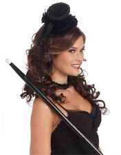 Women's Victorian Costume Black Mini Top Hat With Lace Trim
