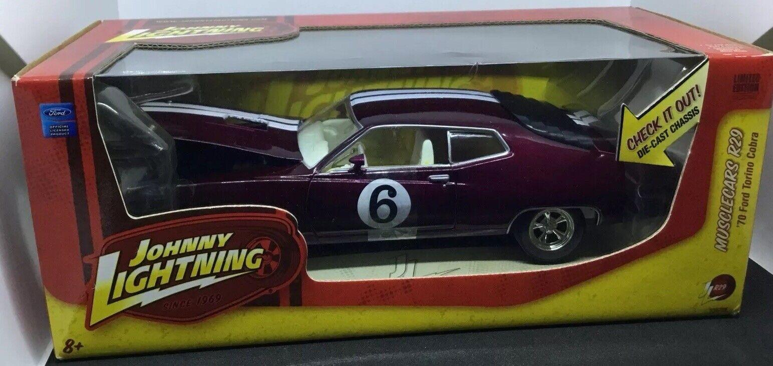 '70 Ford Torino Cobra. 1:24 Diecast. Johnny Lightning HTF