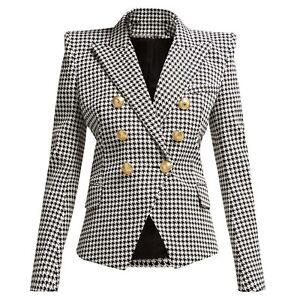 Sleeve High Quality Jk 2019 Buttons Designer Long Women Lion Blazer Metal New 8dqgTd