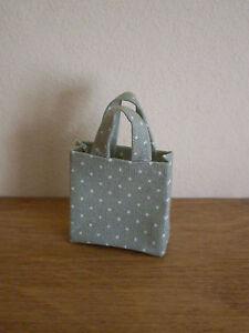 """** Nouveau ** Miniature """"vintage"""" Style Shopping Sac ~ Green & White Polka Dot ~-afficher Le Titre D'origine Une Grande VariéTé De ModèLes"""