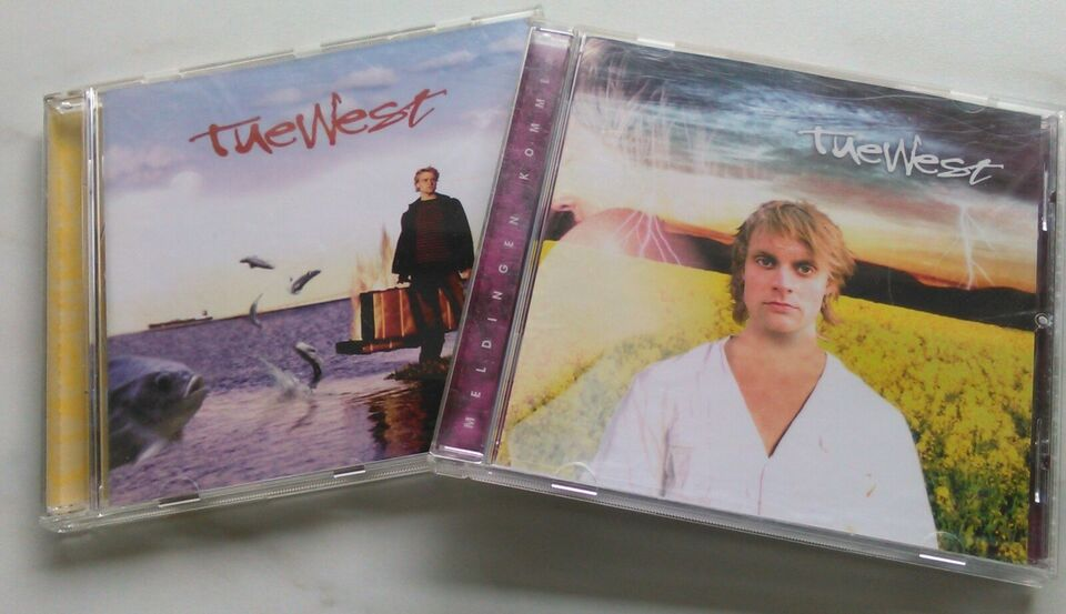 Tue West: 2 CD'er Stk. 25 kr. - begge 45 kr., pop