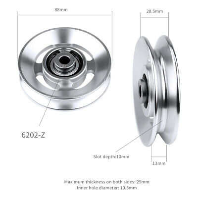 Aluminum Bearing Pulley Wear Resistant Gym Fitness Equipment 73//88//95//110//114mm