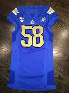 2fa9e5d68ab Image is loading Game-Worn-UCLA-Bruins-Football-Jersey-Used-adidas-