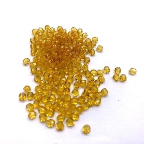 Cuentas checas de vidrio 3.0mm 100 Perlas Joyas Colores fuego pulido