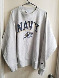 7decda7d4f7 Image is loading Vintage-US-Navy-Naval-Academy-Champion-Reverse-Weave-