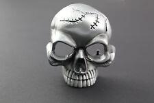 3D SHORT SKULL BELT BUCKLE METAL