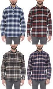 Jachs-Men-s-Brawny-Flannel-Shirt-Long-Sleeve-Cotton-Select-Color-amp-Size