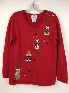 Quacker-Factory-Dog-Poodle-Pug-Terrier-Labrador-Christmas-Ugly-Tacky-Sweater-XS
