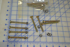 "3"" long 1/4"" x 20 cadmium coated carriage bolt and nuts lot of 12 sets"