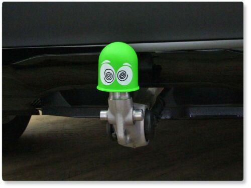 Capuchón de protección tapa enganche del remolque cap regalo Dizzy schwindelige ojos verde