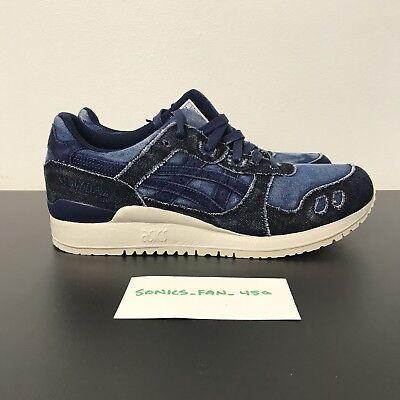 big sale e4aec 056da Asics GEL-LYTE III JAPANESE DENIM (H7D3N.4949) Blue/Indigo Blue Size 9.5  RARE | eBay