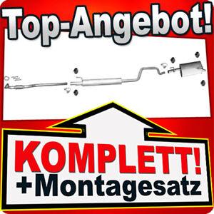 Mittel+Endschalldämpfer Auspuffanlage Auspuff Opel Meriva A 1.4 2004-2010