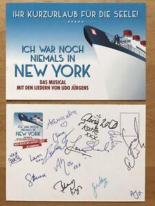 Ich war noch niemals in New York AK Autogrammkarte mehrfach original signiert