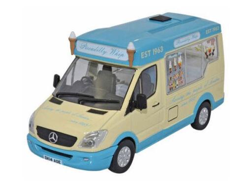 1//43 Oxford WM007 Van Mercedes Sprinter Whitby Mondial Ice Cream Picadilly