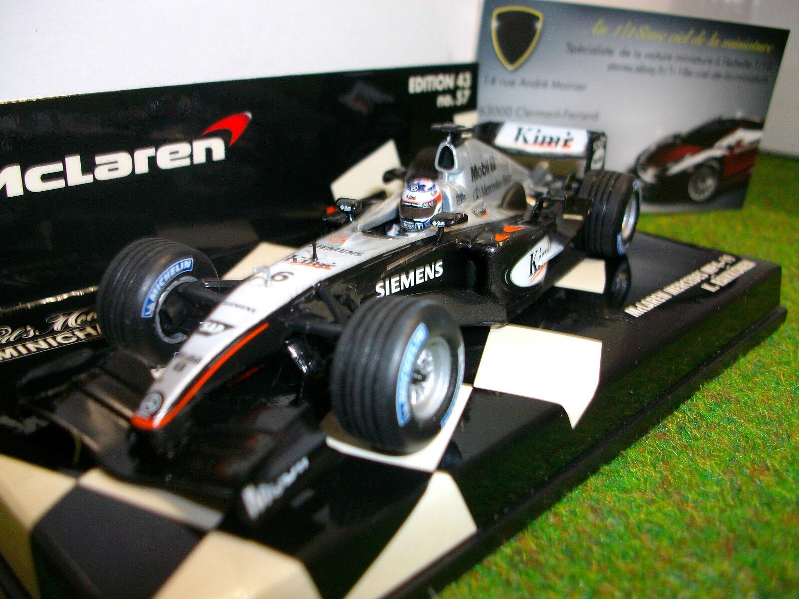 F1 McLAREN MERCEDES 2004 MP4 19 RAIKKONEN 1 43 MINICHAMPS 530044306 formule1