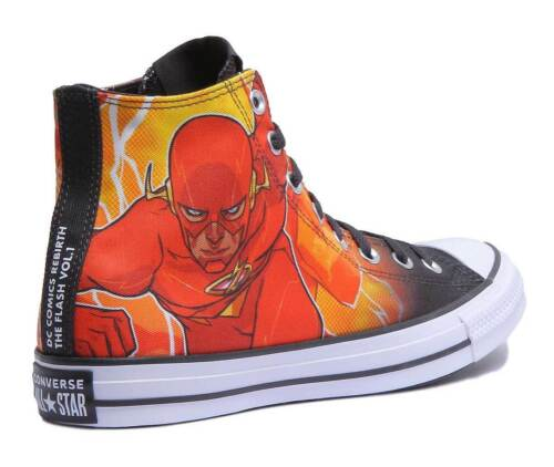 Converse CT All Star Hi DC Comics The Flash Women Canvas Trainers Size UK 3-8