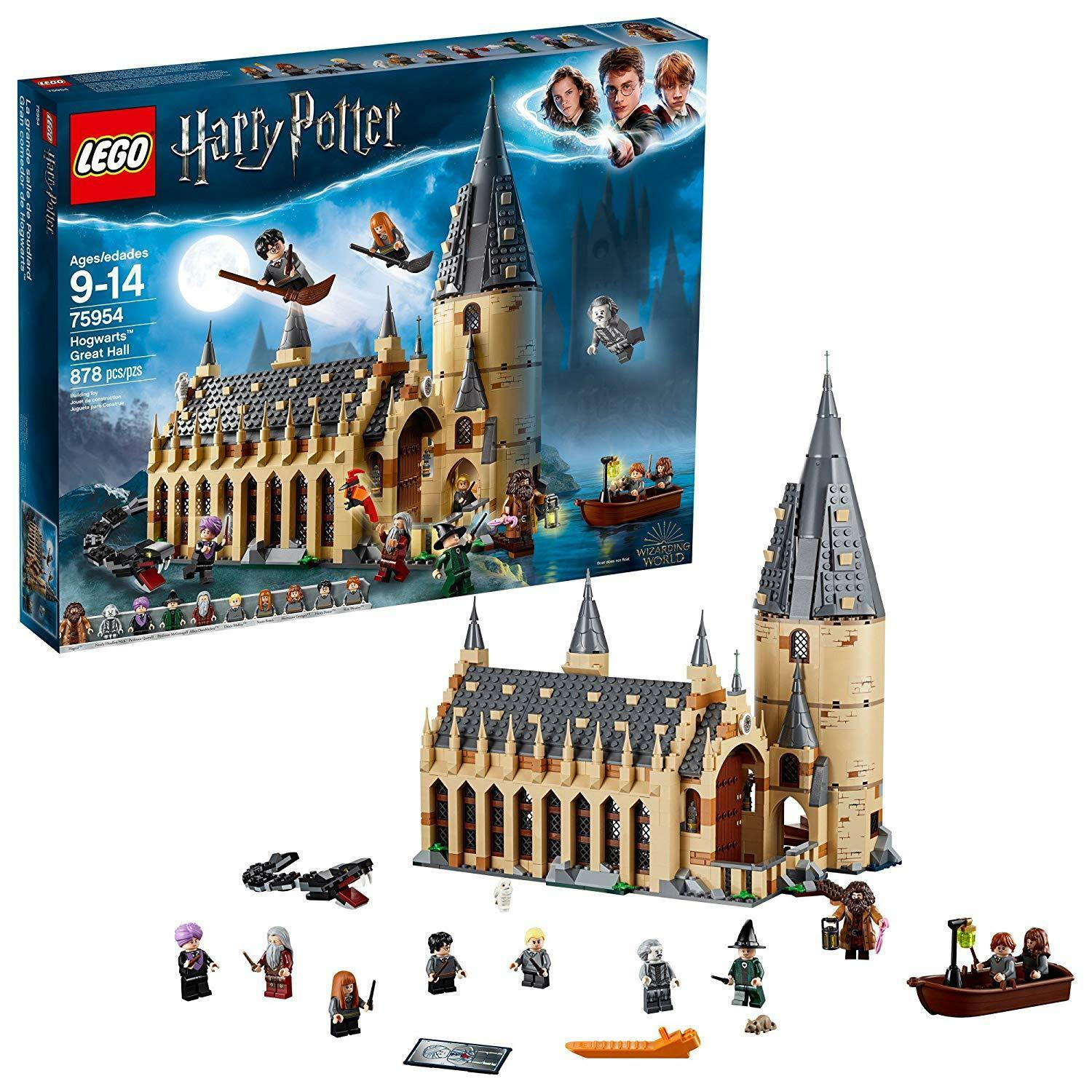 Harry Potter LEGO Set Hogwarts Great Hall Building Kit - 800+ Piece Kids Toy