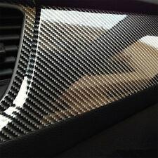 Carbon Fiber Vinyl Film Car Interior Wrap Stickers Auto Parts Accessories Black Fits Isuzu