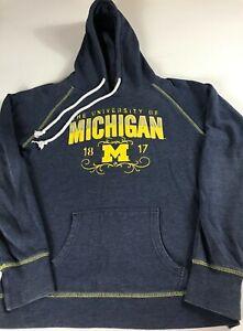 Michigan-Wolverines-Hoodie-Womens-Medium-Student-Alumni-Sweatshirt-Long-Sleeve