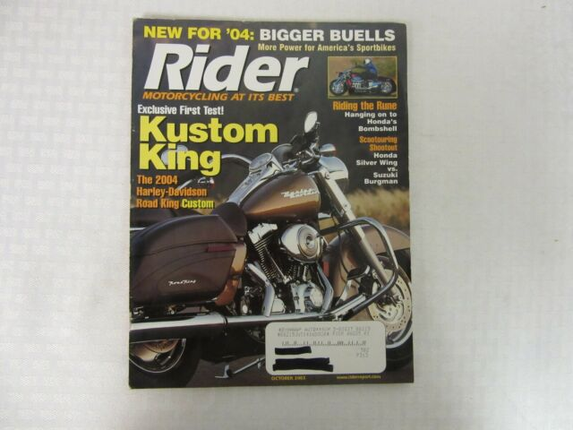 VINTAGE 'RIDER' MOTORCYCLE MAGAZINE, OCTOBER 2003