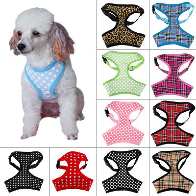 Adjustable Dog Harness Breathable Mesh Padded Pet Vest Soft for Small Medium Dog