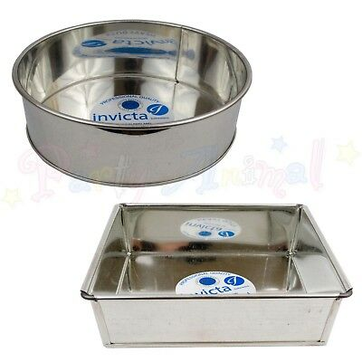 """Bakeware & Ovenware Lovely Invicta High Quality Professional Cake Tin Pans Bakeware Sugarcraft 6"""" To 14"""" Cookware, Dining & Bar"""