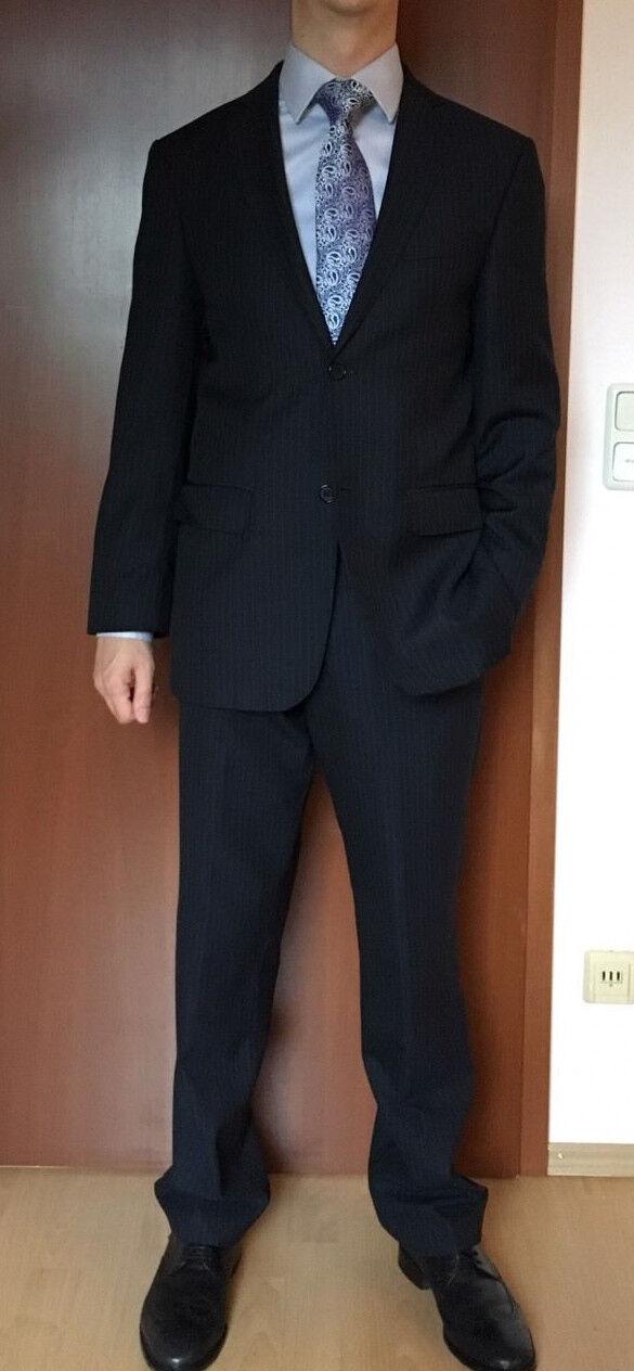 Anzug Heine Premium Collection Herren Größe 46 Nadelstreifen, feinste Schurwolle