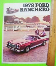 NOS Dealer Sales Brochure 1978 Ford Ranchero GT Squire 500