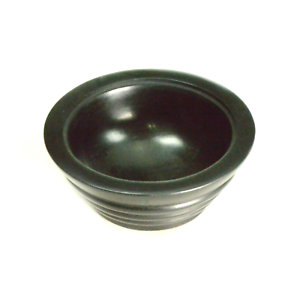 Black-Stone-Smudge-Pot-4-5-inch-Incense-Bowl-Charcoal-Burner-WiccaWiccan-Ritual