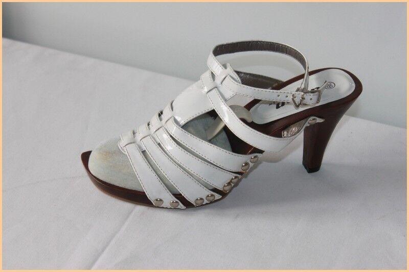 sandali décolleté ARIAN Finta Pelle qualità Bianco T 39 ottima qualità Pelle 5d6616