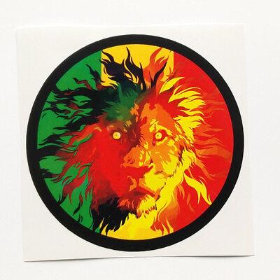 Lion of Judah Vinyl Sticker Decal Africa Rasta Jah Jamaica Reggae Music Ethiopia