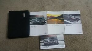 2012 12 AUDI S4 OWNERS MANUAL OWNERSMANUAL COMPLETE WITH CASE OEM