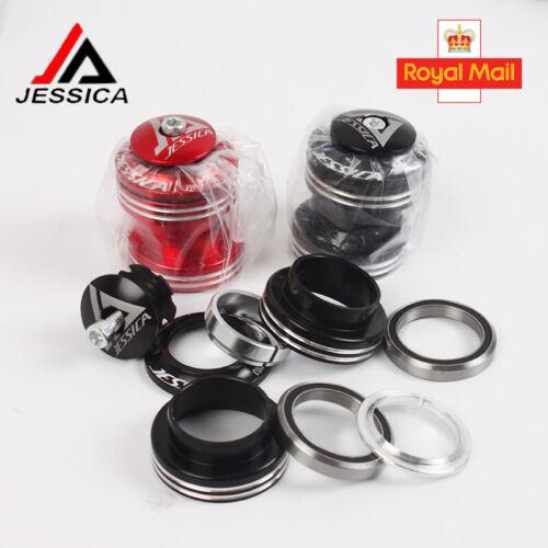 JESSICA 34mm Road Bike Bearings Headset External 1-1//8 Threadless Straight Tube