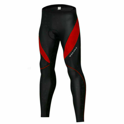 Mens Compression Cycling Bib Pants Tight Padded Thermal Winter Bike Long Tights