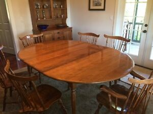 Charmant Image Is Loading Vintage 1960s Maple Dining Set 6 Windsor Brace